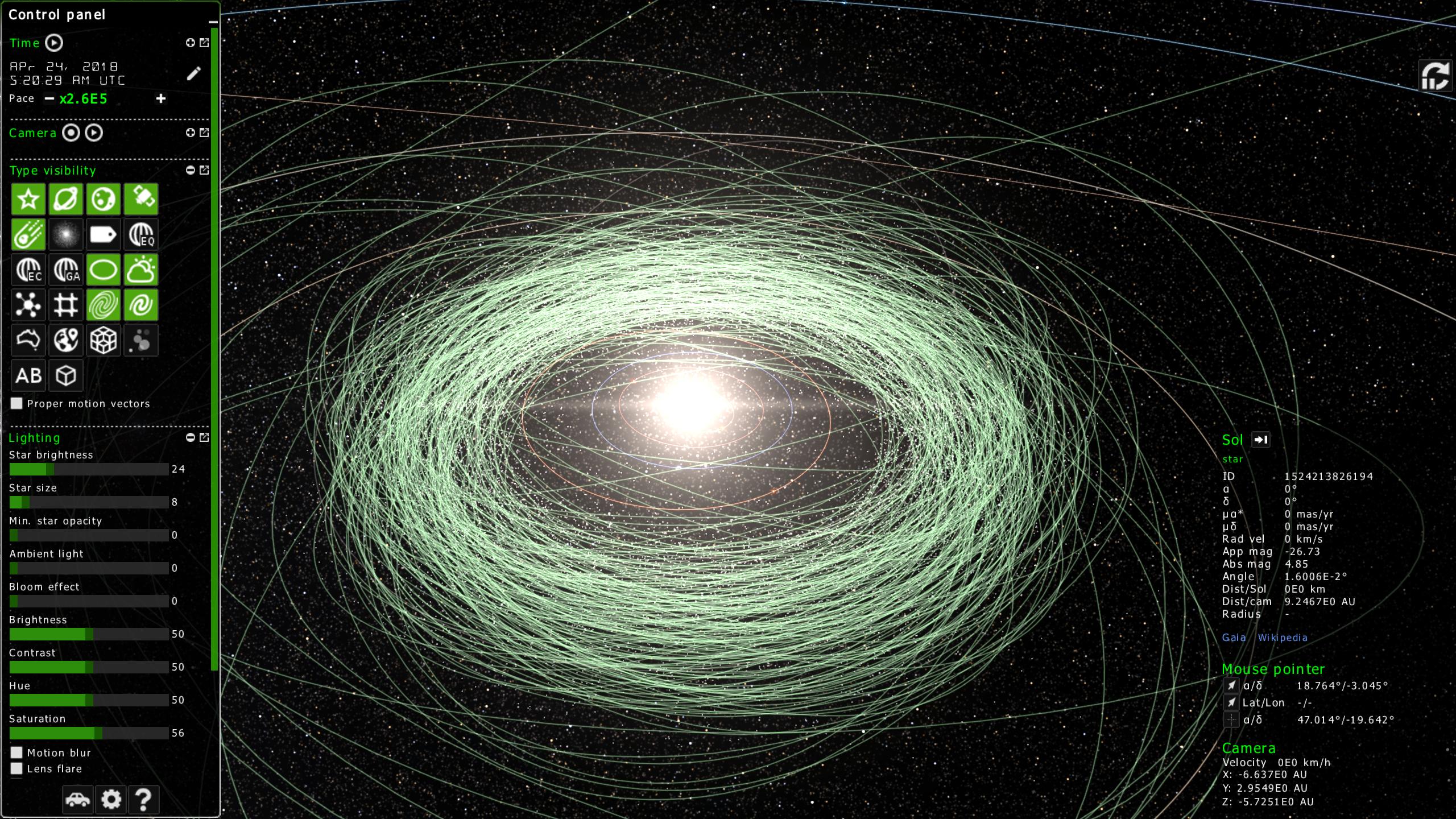 zentrum für astronomie gaia sky